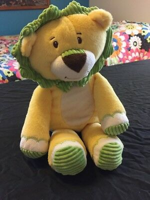 """16"""" Target Sweet Sprouts Yellow Green Lion Stuffed Animal Adventure Plush Toy"""