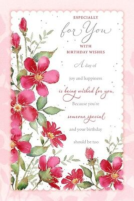 Female Happy Birthday Card Ladies Luxury By Wishing Well