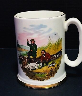 "Vintage Collector Ironstone Mug ""Wild Duck Shooting"" Drawing by Currier & Ives"