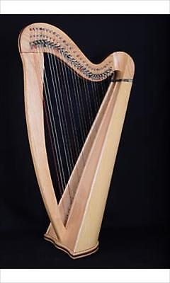 EMS Heritage 27 String Student Celtic Harp In Ash, Metal Semitone Levers **NEW**
