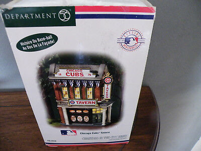 Dept. 56 Christmas in the City Series CHICAGO CUBS TAVERN/Baseball