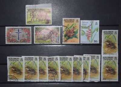 Posten Lot Briefmarken Salomonen Solomon Islands gestempelt