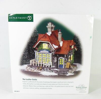 """Department 56 Dickens Village Series """"THE LEATHER BOTTLE"""""""