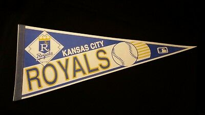 Kansas City Royals vintage Felt full size PENNANT flag MLB Baseball
