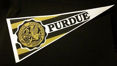 PURDUE UNIVERSITY Felt full size Vintage PENNANT flag INDIANA COLLEGE