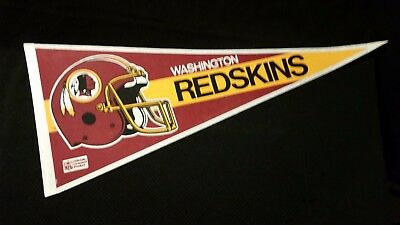 WASHINGTON REDSKINS Felt full size Vintage PENNANT flag NFL FOOTBALL