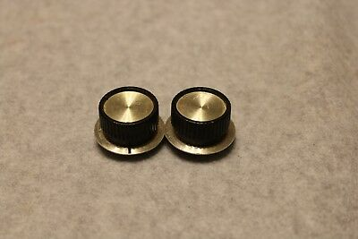 """Vintage Antique Radio Knobs (2) RCA Victor 1/4 in. """"D"""" style metal insert."""