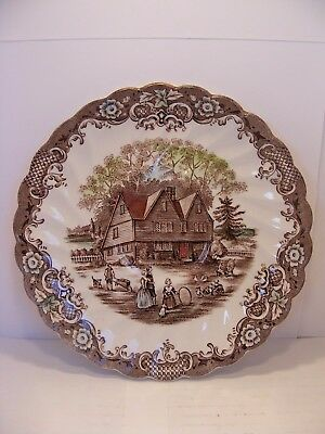 Heritage Hall Colonial Overhang Saucer Made in England  #4411 Ironstone