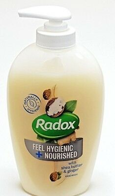 Radox Feel Hygienic + Nourished with Shea Butter & Ginger Handwash - 6 x 250ml