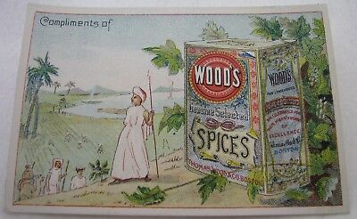 Antique Advertising Thomas Wood & Co Spices Boston Trade Card
