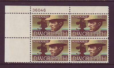 Below Face Value! #1555 D.w. Griffith. Lot Of (50) Mint Plate Blocks. F-Vf Nh!