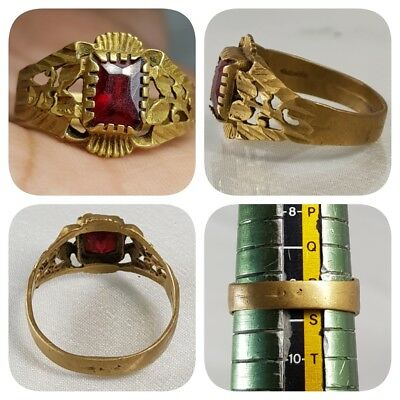 Stunning Antique Wonderful Ring With Old Stone   # A