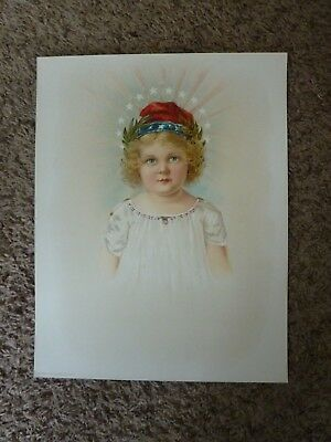 Old Vintage 1902 Antique VICTORIAN PRINT - Lady liberty