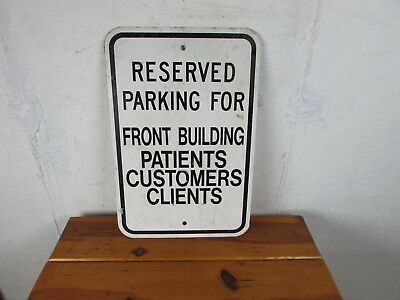 "Vintage Reserved Parking Patients, Customers ETC Aluminum Metal Sign 12"" x 18"""