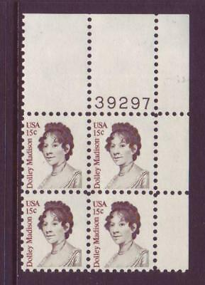 At Face Value! #1822 Dolly Madison. Lot Of (10) Mint Plate Blocks. F-Vf Nh!