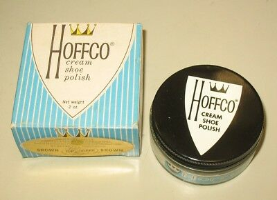 Hoffco Cream Shoe Polish Sperry Top Sider 2oz Vintage Brown, Elk, White NOS