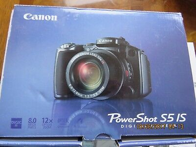 Canon PowerShot Pro S5 IS 8.0MP Digital Camera 12x Optical Image Stabilized Zoom