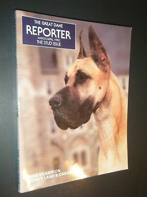 The Great Dane Reporter March / April 1990 Stud Issue Photographs & Articles