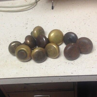 Vintage Door Knobs  11 Piece Lot of Brass and Metal Shabby Chic Craft Project