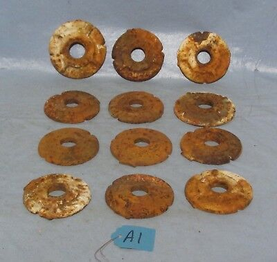 Lot 11 Cast Iron Vintage Rusty Washer Rings Keepers Concrete Brick Retrofit