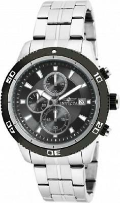 Invicta 17439 Elite Diver Chronograph Date Black Dial Stainless Steel Mens Watch