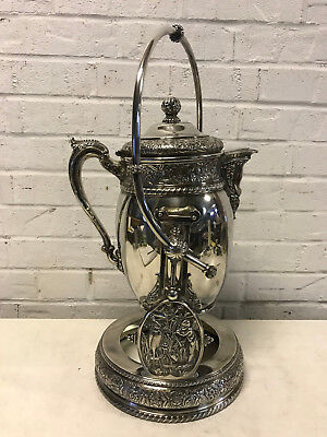 Antique Middletown Plate Co. Aesthetic Movement Silver Plated Tilt Water Pitcher