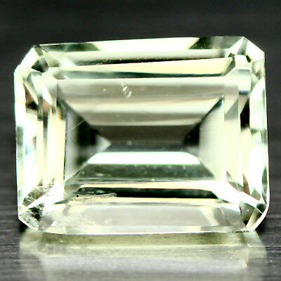 2.65 ct AAA NATURAL GREEN URUGUAY AMETHYST 7.8 X 9.8 mm OCTAGON