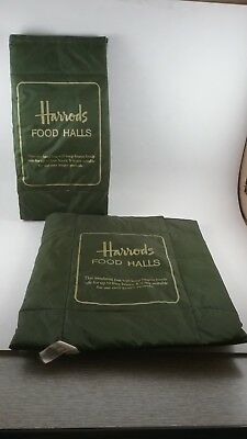 Classic Harrods Food Halls insulated take out bags England