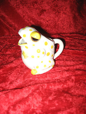 Cute Frog Creamer!  White With Yellow Polka Dots!  Schmid Folio  Japan