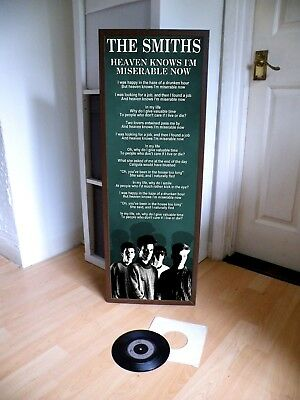 The Smiths Heaven Knows I'm Miserable Now Promo Poster,lyric Sheet,morrissey