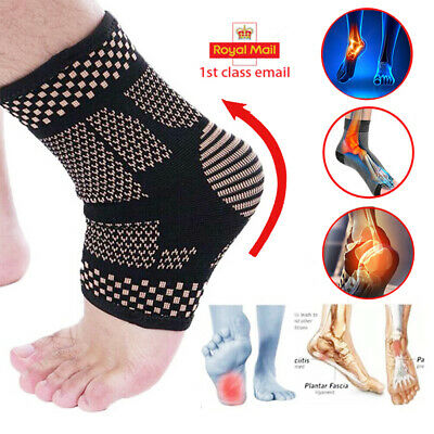 Magnetic Ankle Support Sleeve Compression Strap Achilles Tendon Sprain Brace HT