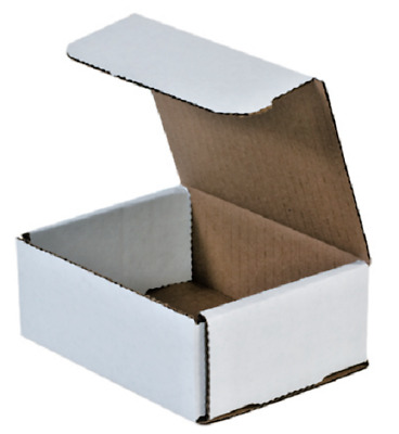 Pick Quantity 1- 500 5x4x2 White Corrugated Shipping Mailer Packing Box Boxes