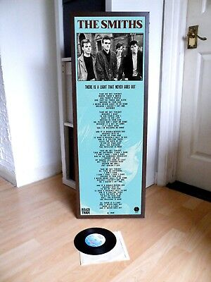The Smiths There Is A Light That Never Goes Out Promo Lyric Poster,joy Division