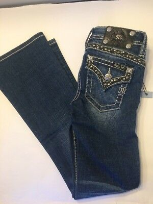 LOOK MISS ME  Bling GIRLS FLAP POCKET BOOT CUT JEANS JK7619B2 size 10