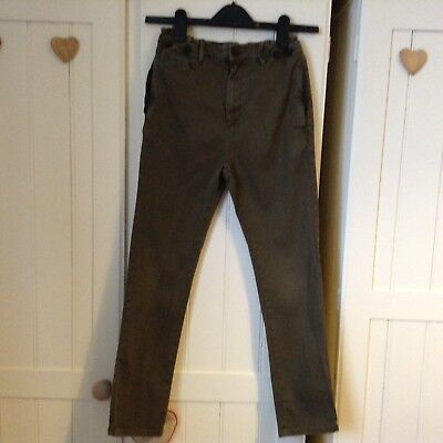Lovely Pair of Boys khaki  ZARA Jeans/Trousers Age 9-10 Years