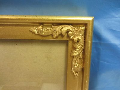 Vintage Ornate Wood  Gold Gilt Picture Frame