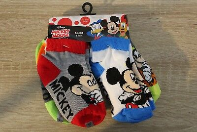 NEW Disney Mickey Mouse & Friends Toddler Boys Socks 6 Pairs 2T-4T