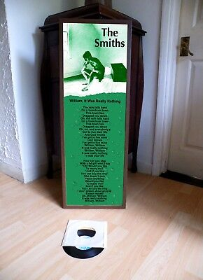 The Smiths William, It Was Really Nothing Promo Lyric Poster,joy Division