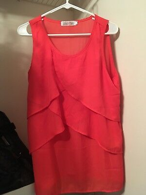 Latched Mama Size L, coral chiffon nursing top