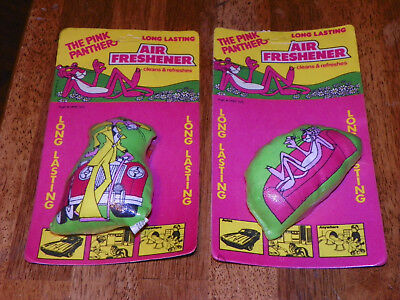 Set of 2 Vtg 1979 Scentex Inc The Pink Panther Long Lasting Air Freshener NEW