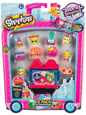 Shopkins Season 8 World Vacation - Americas 12 Pack (Blue House Pink Roof) | New