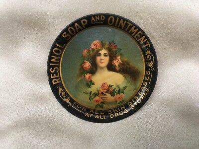 Resinol Soap and Ointment for Skin Diseases Advertising Tip Tray c.1900