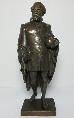 "19th CENTURY BRONZE GALILEO STATUE FRENCH Antique14 5/8"" Tall"