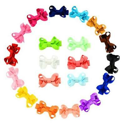 Yhxx Ylen 20Pcs Small Baby Hair Bows Grosgrain Ribbon Clips For Baby Girls Toddl