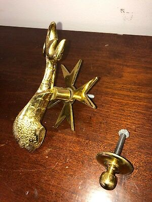 Vintage MALTA Brass Dolphin / Koi / Fish DOOR KNOCKER Malta