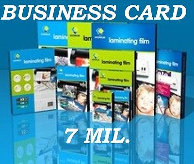 Clear Business Card (25) 7 mil Laminating Laminator Pouches 2-1/4 x 3-3/4