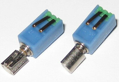 "2 X Pager / Cell Phone Vibrating Micro Motor - .5 to 3V 2 - 0.05 ounce - 0.4"" L"