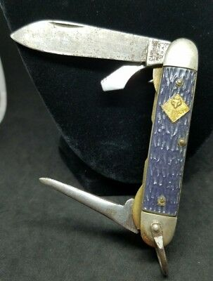 Camillus Boy Scout Knife New York Usa 1950's Vintage Collectable Knives BSA