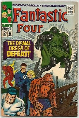 FANTASTIC FOUR # 58   Beautiful Silver Age - FN6.5 to FN/VF7.0