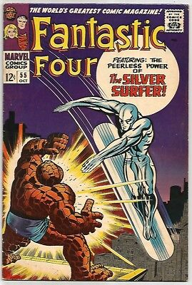 FANTASTIC FOUR # 55   Beautiful KEY Silver Age - FN6.5 to FN/VF7.0